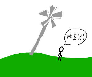 tilted windmill
