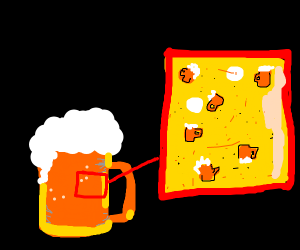 beer is actually made out of beer particles