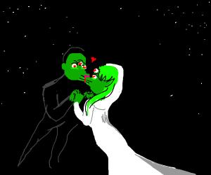 Space aliens getting married