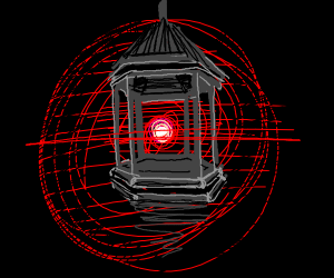 Red glowing lantern
