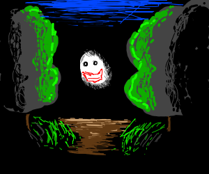 Creepy guy in forest