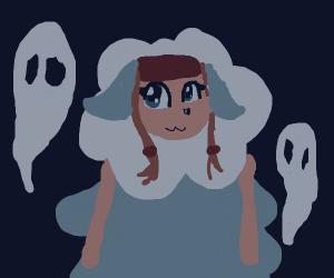 Spooky sheep girl