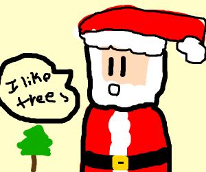 santa loves trees