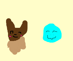 squirtle and eevee