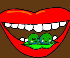 Eating sentient peas