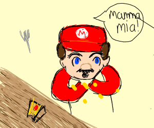 Mario Chokes on Cheesecake