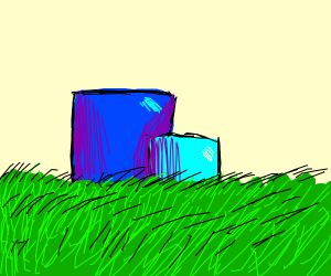 Two blue squares