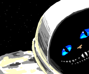 The Cheshire cat in space