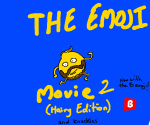 The much anticipated Hairy emoji movie 2