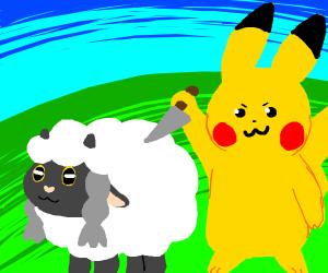 Pikachu tries to kill Wooloo