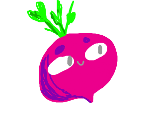beet with a face