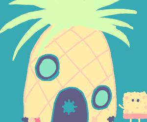 spongebob outside his humble abode :)