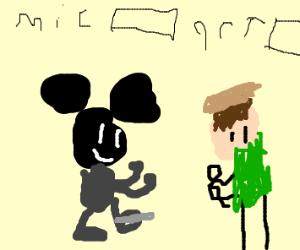 Artist vs mickey mouse