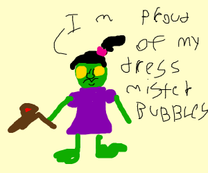 Little girl proud of her dress