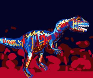 Enraged Allosaurus