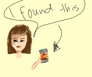 girl found the can of beans
