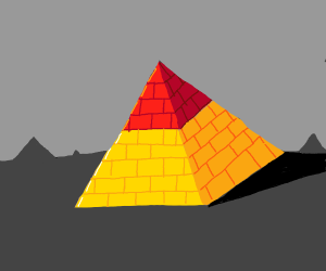 Pyramid with red top