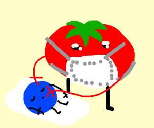 Tomato (or apple) is doing surgery