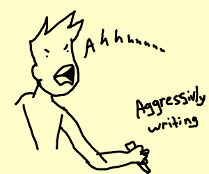 Writer Screaming