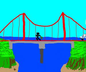 Robber crossing a Bridge