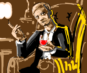 Gentleman holding wine