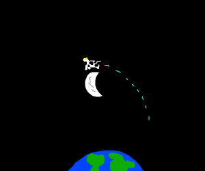 A cow jumping over the moon :D