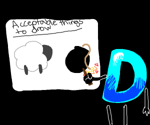 Sheep and bomb are both acceptable