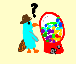 perry the platypus attempts to buy gumballs