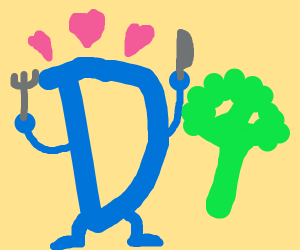 Drawceptino D likes broccoli