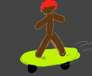 dude on skateboard