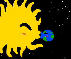 Sun and Earth kiss