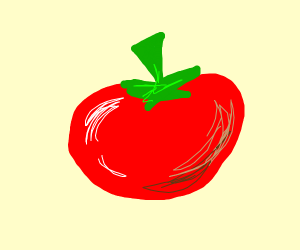 tomato with a really long stem thing