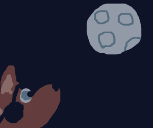 Foxy Looking At The Moon? (fnaf)