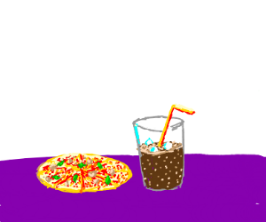 pizza coke