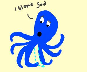 Octopus Missing a Limb and Blaming God