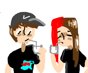 MrBeast and boyinaband drink milk together