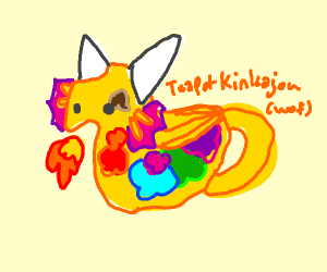 rainbow fire teapot dragon