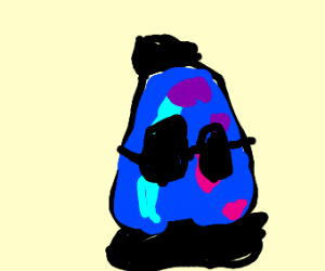 Lava Lamp with Glasses