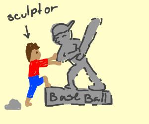 Baseball Sculptor