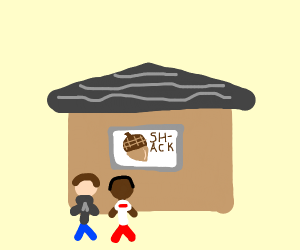 The Nut Shack but with stickmen