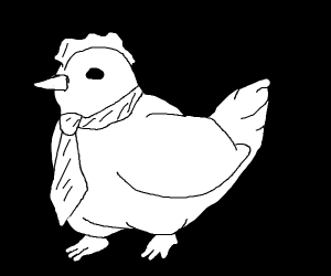 chicken with a tie!!