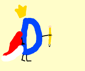 Drawception d with a crown