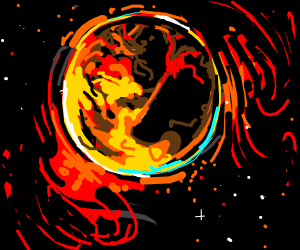 A lava planet