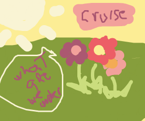 Flowers growing under a cruise
