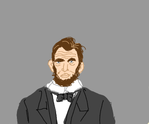 abe lincoln without hat?