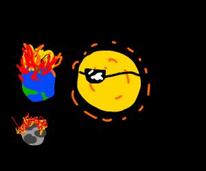 The sun got so hot, everything caught fire