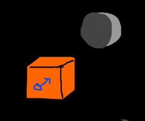 Male Orange Box in the Night