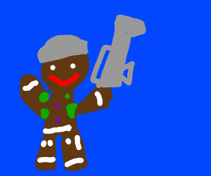 A gingerbread soldier