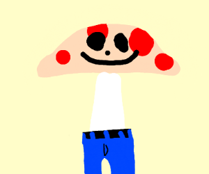 Mushroom wearing Pants