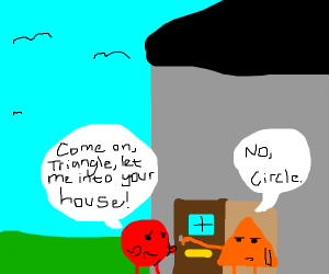 Triangle won't let circle come in its house